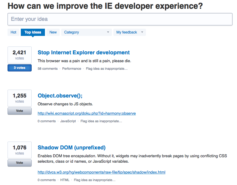How can we improve the IE developer experience? – Stop Internet Explorer Development!
