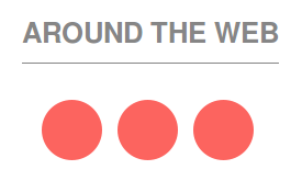 Three red-ish circles around the web